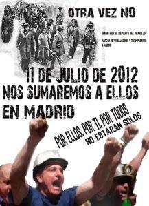 11 julio de 2012 en Madrid no estarán solos