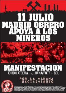 11 Julio Madrid obrero apoya a los mineros. HQPLP