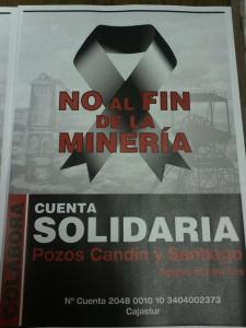 Cuenta Solidaria pozos Candin y Santiago Cajastur 2048 0010 10 34 04 00 23 73