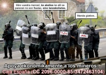 Apoya ekonómikamente a los mineros (Kalvellido)