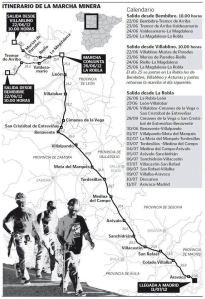 Itinerario III marcha negra a Madrid