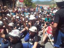 Las marchas se juntan en La Robla