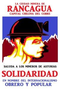 Rancagua (Chile) en solidaridad con los mineros asturianos