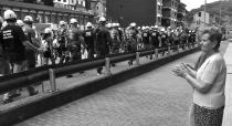 Los mineros marchando (Foto Javier Bauluz)