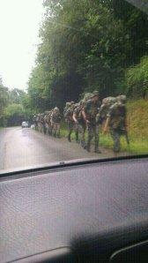 Soldados en el valle del Nalón (19 junio)
