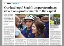 Spain desperate miners. The Guardian