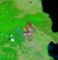 Incendio de l'Alt Empordà 23 julio 2012. foto Modis-Aqua.NASA