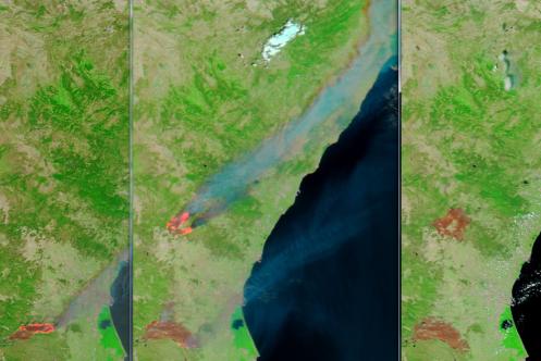 Incendios de Cortes y Andilla. 29 y 30 junio, 3 julio 2012. NASA MODIS