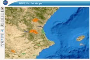 Incendios de Cortes y Andilla julio 2012