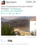 Zona cremada darrere les cases d Monte Pedreguer #focalamarina