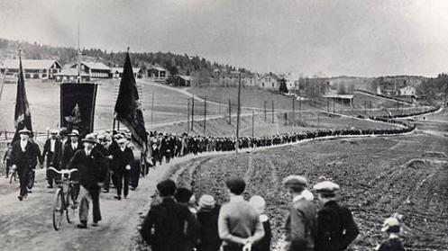 Una marcha en Ådalen, Suecia en 1931