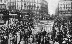 manifestación sol 1936