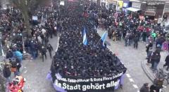 Inicio manifestación 21dic Hamburgo
