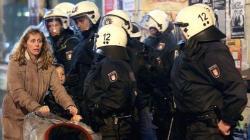 Paseando entre policías. Gefahrengebiet en Hamburgo
